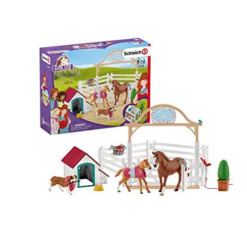 Schleich 42458 Horse Club Spielset - Horse Club Hannahs Gastpferde mit Hündin Ruby, Spielzeug ab 5...