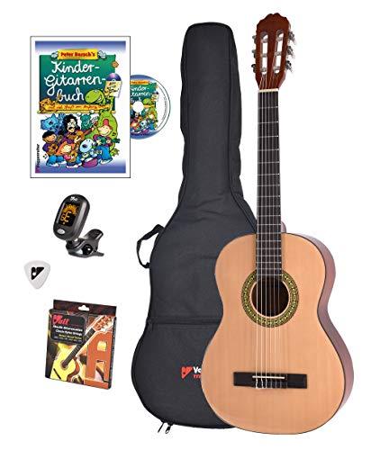 Voggy's Kindergitarren-Set ¾ - Gitarre für Kinder ab 8 Jahren im Komplettset mit Zubehör auch...