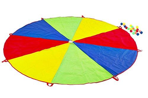 Garden Games 535 - Fallschirm Spiel mit 20 Kugeln (Mehrfarbig), 2,5 m Durchmesser