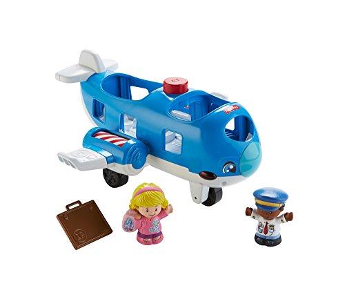 Fisher-Price FKX05 Little People Flugzeug Spielzeug für Kleinkinder mit Geräuschen und Liedern inkl. 2...