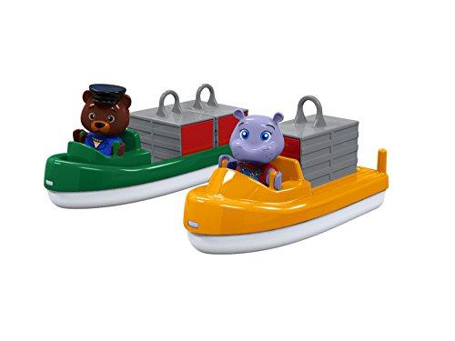 AquaPlay 255 Container- & Transportboot - Zubehör für AquaPlay Wasserbahnen oder für die Badewanne, 2...
