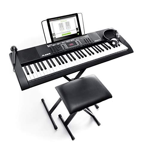 Alesis Melody 61 MKII - Tragbares Keyboard Set - E Piano mit 61 Tasten und eingebauten Lautsprechern,...