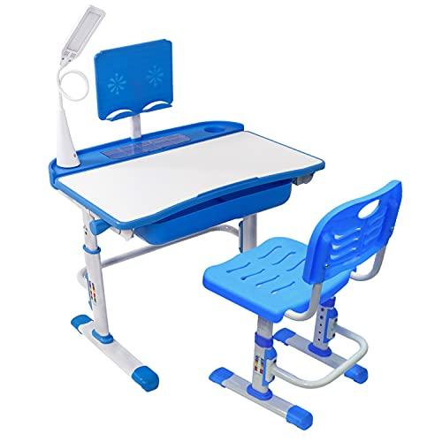 Yinleader Kinderschreibtischstuhl-Set, Höhenverstellbarer Multifunktionsschreibtisch und Stuhl,...