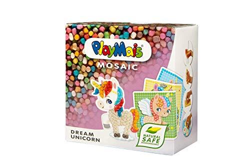PlayMais MOSAIC Dream Unicorn Kreativ-Set zum Basteln für Kinder ab 5 Jahren | Über 2.300 Stück & 6...