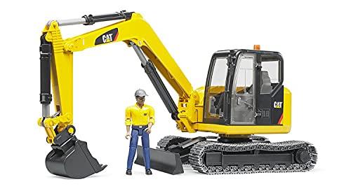 Bruder 02466 - Cat Minibagger mit Bauarbeiter