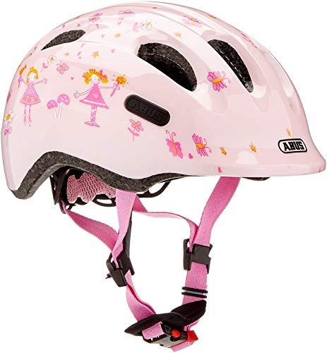 Abus Mädchen Smiley 2.0 Fahrradhelm, Rose Princess, 50-55 cm