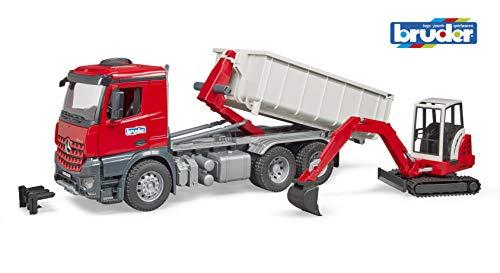 MB Arocs LKW mit Abrollcontainer