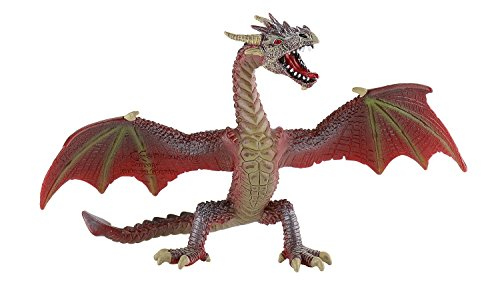 Bullyland 75591 - Spielfigur, fliegender Drache rot, ca. 17,8 cm groß, liebevoll handbemalte Figur,...