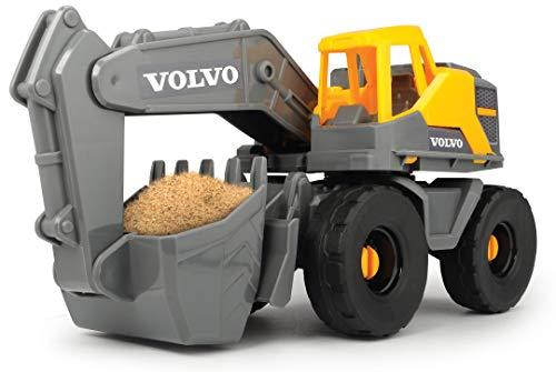 Dickie Toys Volvo Schaufelbagger, Bagger, Baustellenfahrzeug mit beweglicher Schaufel und Schaufelarm,...