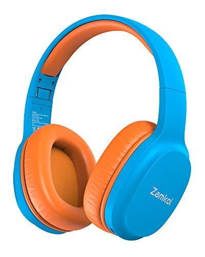 Kinderkopfhörer Bluetooth, Zamkol Kinder Kopfhörer Over-Ear mit 85db Lautstärkebegrenzung, Faltbare...