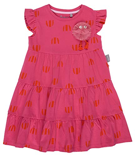 SIGIKID Mini - Mädchen Kleid Sommerkleid Kurzarm aus Bio-Baumwolle, abnehmbares Hangtoy, Rosa, 122