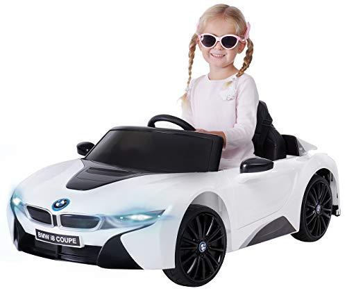 Actionbikes Motors Kinder Elektroauto BMW i8 - Lizenziert - 2 x 25 Watt Motor - Eva Weichgummireifen -...