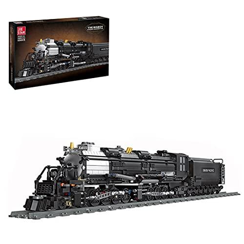 1608+ Teile Bausteine Modell- Dampflokomotive mit Bahngleis, Dampflok Klemmbausteine Kompatibel mit Lego,...