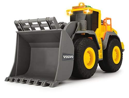 Dickie Toys QDKT062032 Volvo Radlader, Spielzeugbagger, Bagger, Lader, Baustellenfahrzeug, Baustelle,...