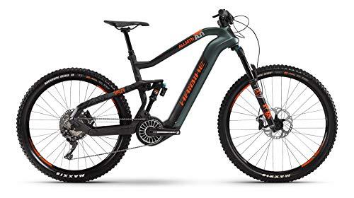 HAIBIKE XDURO AllMtn 8.0 Flyon Elektro Bike 2021 (S/41cm, Olive/Carbon/Orange Matt)