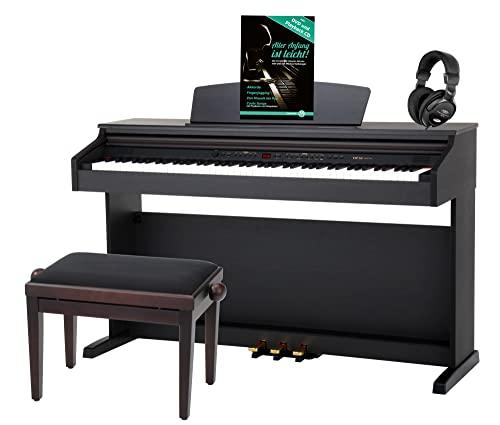 Classic Cantabile DP-50 RH E-Piano SET (Digitalpiano mit Hammermechanik, 88 Tasten, 2 Anschlüsse für...