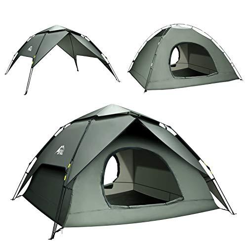 BFULL Pop-up Familie Camping Zelt 4-5 Personen, wasserdicht belüftet abnehmbare Instant-Zelt, schnell...