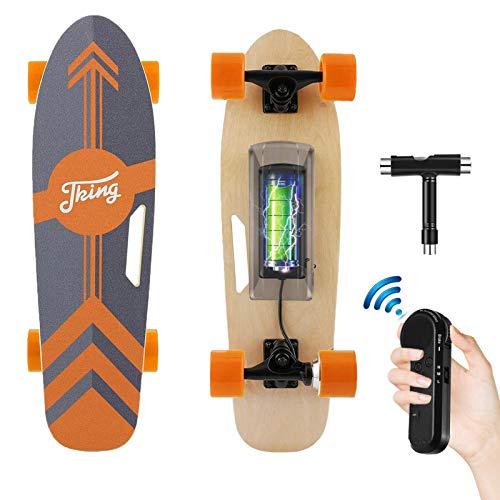 Tooluck Elektrisches Skateboard mit kabelloser Fernbedienung, 20 km/h Höchstgeschwindigkeit, 350 W...