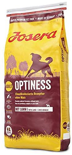 JOSERA Optiness (1 x 15 kg) | Hundefutter mit eiweißreduzierter Rezeptur ohne Mais | Super Premium...