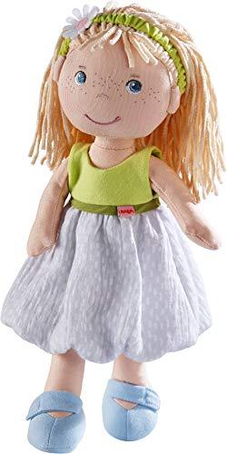 HABA 305239 - Puppe Jil, Stoffpuppe zum Spielen und Kuscheln aus weichen, waschbaren Materialien, 30 cm,...
