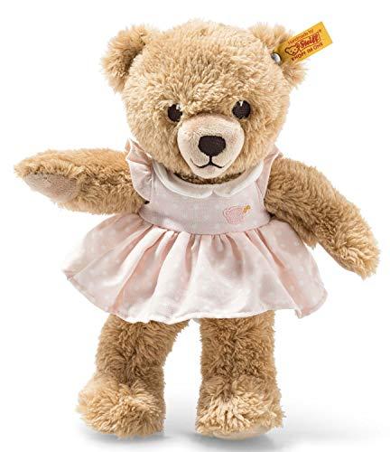 Steiff Schlaf Gut Bär - 25 cm - Teddybär mit Kleid - Kuscheltier für Babys - weich & waschbar - beige...