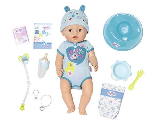 BABY born Zapf Creation 826072 Soft Touch Boy Puppe mit lebensechten Funktion und viel Zubehör,...