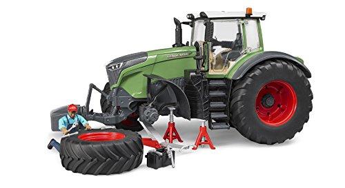 Bruder 04041 Fendt 1050 Vario mit Mechaniker und Werkstattausstattung, grün