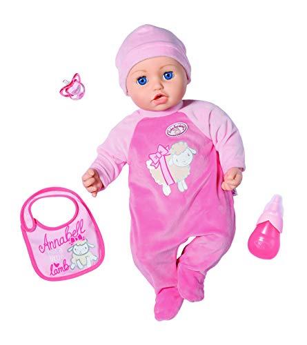 Baby Annabell Puppe mit Funktionen Annabell 43 cm, realistische Töne und Bewegung, weint, Kopf, witzig,...