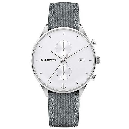 PAUL HEWITT Chronograph Herren Chrono Line White Sand - Herren Chronograph Edelstahl (Silber), Armbanduhr...