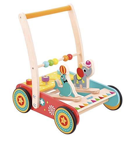 RB&G Laufwagen Zirkus aus Holz mit Gummibereifung/Spielspaß für Kinder