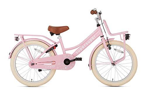 POPAL SuperSuper Cooper Kinder Fahrrad für Kinder | Mädchen Fahrrad 20 Zoll ab 6-8 Jahre| Kinderrad met...