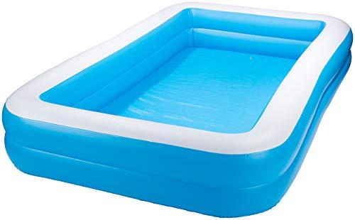 Speeron Pool: Aufblasbares Jumbo-Planschbecken, 305 x 183 x 51 cm, blau-weiß (Swimmingpool)