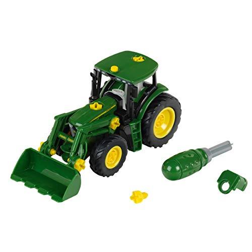 Theo Klein 3903 John Deere Traktor I Mit Frontlader und Gegengewicht I Demontierbare Einzelteile I Maße:...