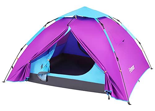 Femor Campingzelt, Aufstellzelt | Zweischichtiges Kuppelzelt, wasserdicht, Winddicht | Kann schnell...