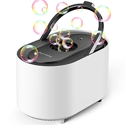Aupmeka Seifenblasen Maschine für Kinder bläst automatisch 3500+ Seifenblasen pro Minute tragbar,...
