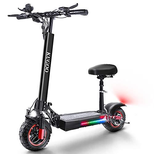 AZAMPA Elektroroller Erwachsene E Scooter mit Sitz 55 km Lange Reichweite E Roller 500 W 48 V 16 Ah...