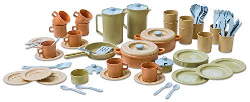 Dantoy - Geschirr-Set aus Biokunststoff, 79-TLG. - Kindergeschirr Kindergarten Kinder