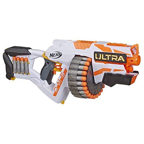 NERF Ultra One Motorized Blaster – Weiterentwickeltes Design, Trommelmagazin mit hoher Kapazität, 25...