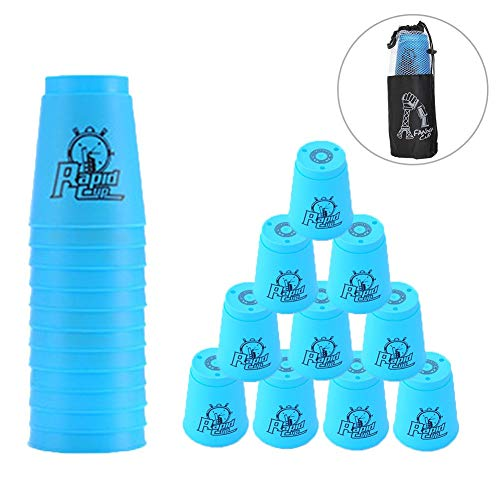 Quick Stacks Cups 12er Pack Sport-Stapelbecher Speed-Trainingsspiel Challenge Competition Party-Spielzeug...