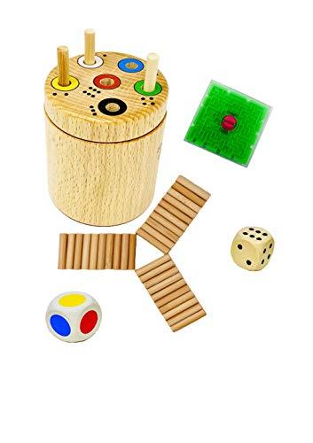 Spiel: Ab in die Box rund + Gratis 1 Minis Balance Spiel | Spaß für die ganze Familie und für Kinder...