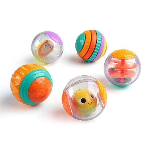 Bright Starts, Shake & Spin 5 leicht greifbare Spielbälle die rasseln, kreiseln, klicken und vieles...