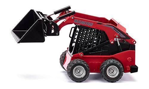 SIKU 3049, Manitou 3300V Kompaktlader, 1:32, Metall/Kunststoff, Rot, Viele Funktionen, Kombinierbar mit...