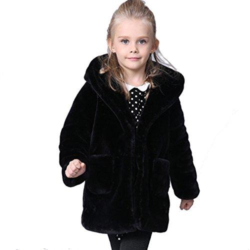 KVbabby Mädchen Winter warme Mantel Dicker Pelzmantel Plüsch Outwear Wintermantel Kinder Oberbekleidung...