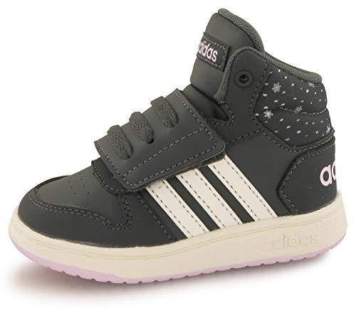 adidas Jungen Unisex-Kinder Hoops Mid 2.0 I Fitnessschuhe, Mehrfarbig (Grisei/Blanub/Aerorr 000), 26 EU