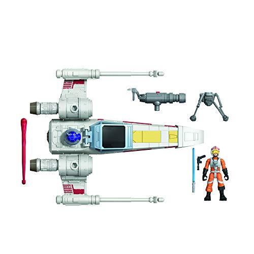 Hasbro E9597 Wars Mission Fleet Stellar Class Luke Skywalker X-Wing Fighter 6 cm große Figur und...