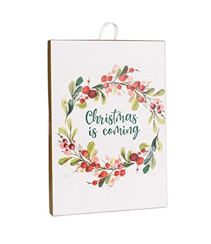 TOSH Schmuck-Adventskalender Christmas is Coming mit 24 edlen Überraschungen, zum aufhängen an der Wand...