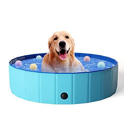 KORIMEFA Hundepool für Hunde, Swimmingpool Hund Planschbecken Schwimmbecken, Faltbarer Pool Badewanne...