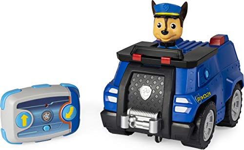 PAW Patrol Ferngesteuertes Polizeiauto mit Chase - Figur, RC Fahrzeug in blau