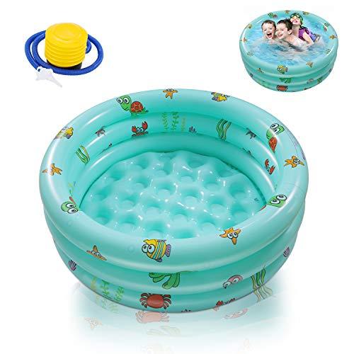 Ucradle Planschbecken, Kinderpool Babypool Ø100x27cm Kinder Aufstellpool Aufblasbarem Baby Pool Rund...