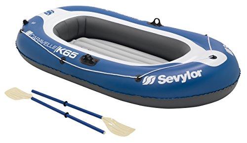 Sevylor Schlauchboot Caravelle KK65, aufblasbares Boot für 2 Personen inkl. 2 Ruder und Fußpumpe, 228 x...